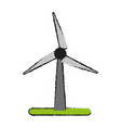 wind turbine eco freindly related icon image vector image vector image