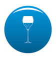 wine glass icon blue vector image vector image