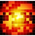 Red and orange squares abstract background vector image
