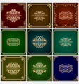 luxury ornamental backgrounds vector image