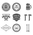 set of vintage logotypes elements labels vector image