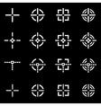 white crosshair icon set vector image