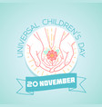 20 november childrens day flower vector image vector image