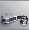3d camera film strip background vector image vector image