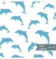 Abstract dolphin pattern vector image vector image