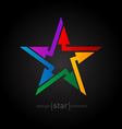 Abstract rainbow star design element with arrows vector image vector image