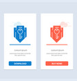 access key protection security shield blue and vector image