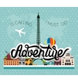 Adventure lettering vector image