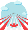 Air show for celebrate the national day of Canada vector image vector image