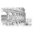 amphitheater at pola dalmatia oval or circular in vector image vector image