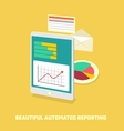 Automated reporting vector image vector image