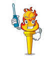 automotive torch mascot cartoon style vector image vector image