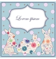 Background with easter rabbits vector image vector image