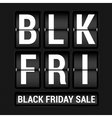 Black Friday scoreboard vector image vector image