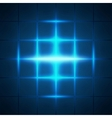 Blue glowing grid squares abstract background vector image vector image