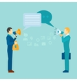Business Communication Poster vector image vector image