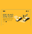 car blind spot monitoring assist website vector image vector image