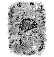 cartoon cute doodles electric cars vector image vector image