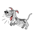 cartoon dog barks vector image
