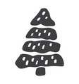 christmas tree icon silhouette shape vector image vector image