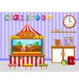 Classroom for kindergarten students vector image vector image