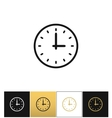 Clock sign or simple time icon vector image