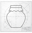 Color flat homemade jam bottle template