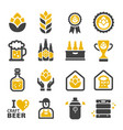 craft beer icon vector image vector image