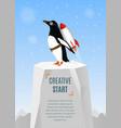 Creative start and creative idea concept poster vector image
