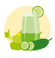 Detox cocktail with cucumber vector image