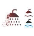 dissolving pixel halftone shower icon vector image vector image