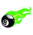 eight ball with flames art vector image