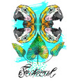 exotic hand drawn abstract background vector image vector image