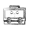 figure kawaii cute angry suitcase design vector image vector image