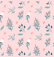 floral seamless pattern garden flowers branches vector image vector image
