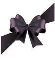 funeral card with black ribbon vector image