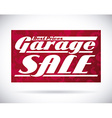 garage sale design vector image vector image