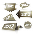 golden 2012 labels stickers pointers vector image vector image