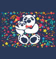 happy bear father vector image vector image