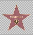 hollywood star celebrity fame walk vector image vector image