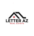 initial letter a and z real estate logo design vector image vector image