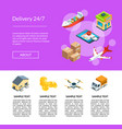 isometric logistics and delivery icons vector image