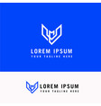 letter v and m line arrow logo design element vector image vector image