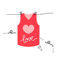 love shirt vector image vector image