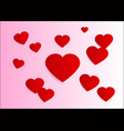 lovely heart valentine background vector image vector image