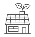 low energy house thin line icon ecology energy vector image