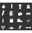 Military and war icons vector image vector image