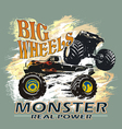 monster big wheels vector image vector image