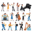 musician icon set vector image