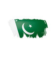 pakistan flag on a white vector image